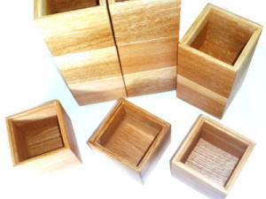 つみき感覚で小物を収納!mini木箱